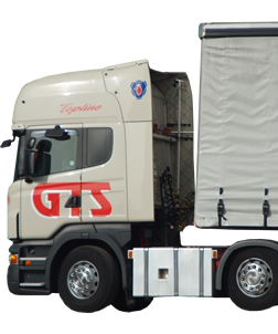 The cab of a GTS lorry